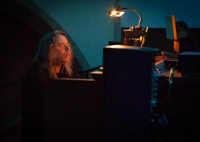 Heinz Manuel Krause an der Orgel