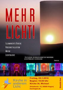 """Plakat zur Veranstaltung """"Mehr Licht!"""""""