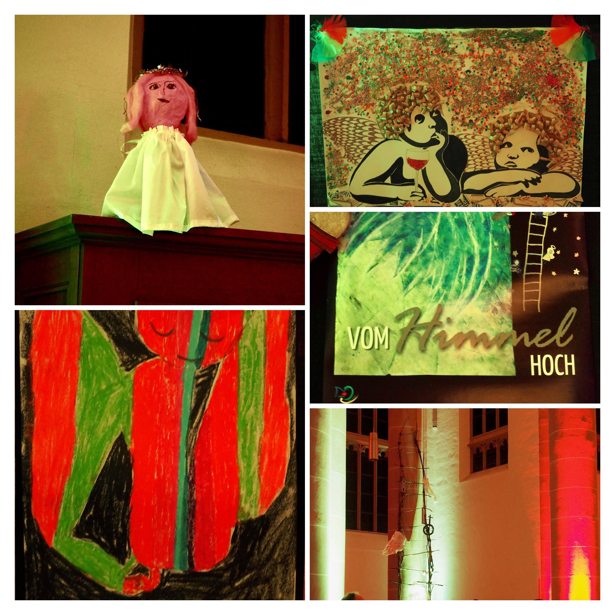 Engel Collage Kunstunterricht